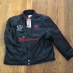 Vntg Leather Chase Authenticate Dale Earnhardt